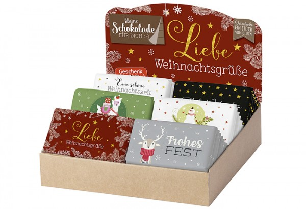 Schokolade 40g Weihnachten – sortiert