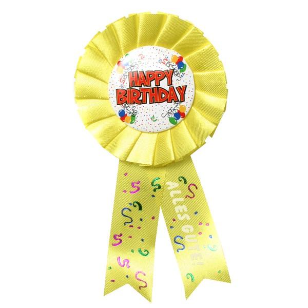 Glückwunsch-Rosette Happy Birthday