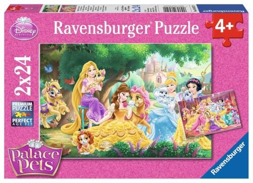 Ravensburger 08952 Puzzle Beste Freunde der Prinzessinnen 2 x 24 Teile