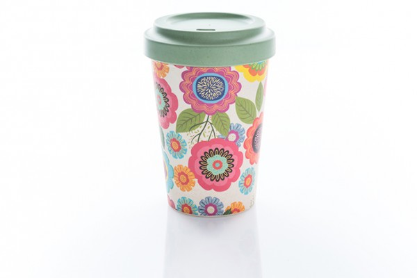 Coffee to go Bamboo Flower Power
