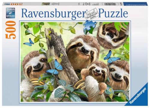 Ravensburger 14790 Puzzle: Faultier Selfie 500 Teile