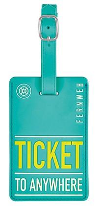 Kofferanhänger ticket to anywhere