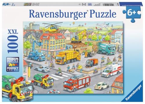Ravensburger 10558 Puzzle Fahrzeuge in der Stadt 100 Teile