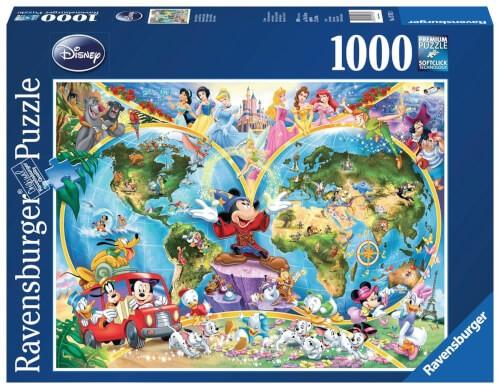 Ravensburger 15785 Puzzle Disney's Weltkarte1000 Teile