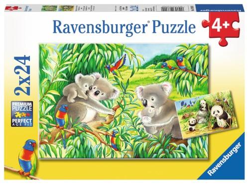Ravensburger 07820 Puzzle: Süße Koalas und Pandas 24 Teile
