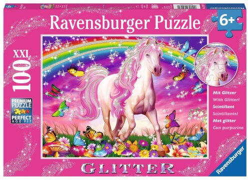 Ravensburger 13927 Puzzle Pferdetraum 100 Teile Glitter
