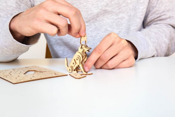 3D Holzpuzzle Hund
