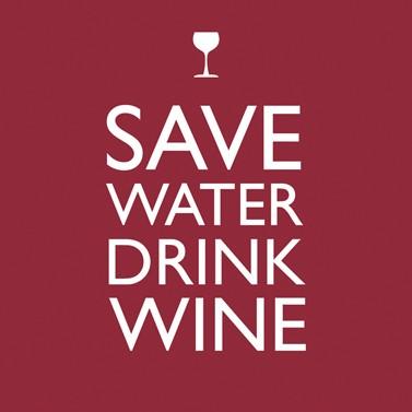 """Cocktailserviette """"Save Water"""""""