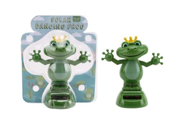 Solar tanzender Frosch