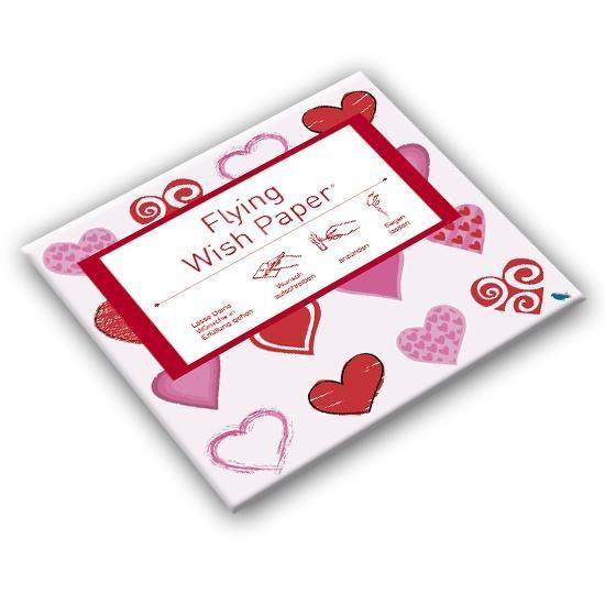 Mini - Wunschpapier Flying Wish Herz