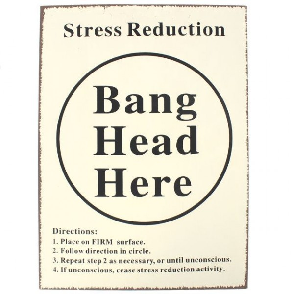 Bang Head Metallschild