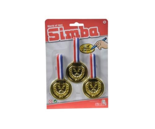 Gold-Medaillen zum Umhängen von Simba, 3 Stück, ab 3 Jahren