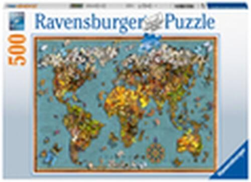 Ravensburger 15043 Puzzle Antike Schmetterling-Weltkarte 500 Teile