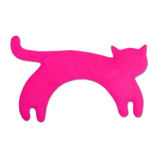 Wärmekissen Katze schw/pink