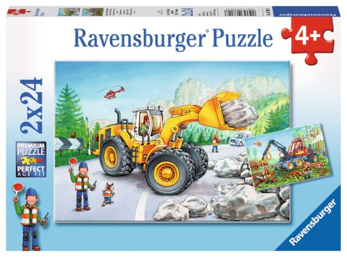Ravensburger 07802 Puzzle: Bagger und Waldtraktor 2x24 Teile