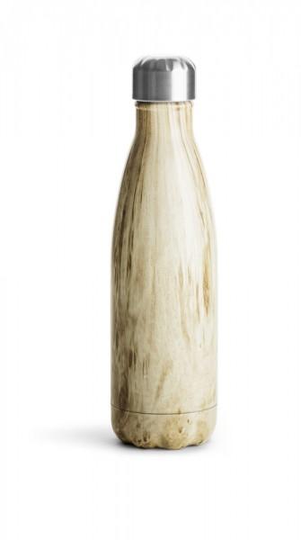 Stahlflasche Holzoptik