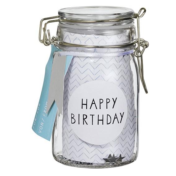Geschenkglas Happy Birthday