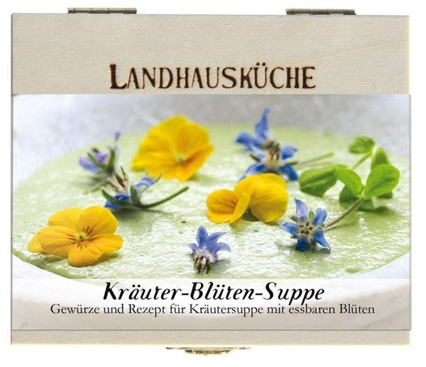 Gewürzkasten Kräuter-Blüten-Suppe