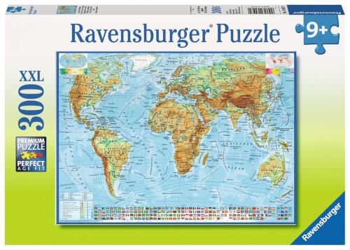 Ravensburger 13097 Puzzle Politische Weltkarte 300 Teile