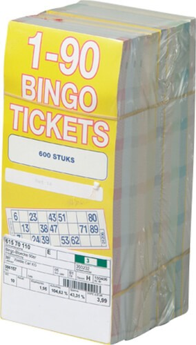 Block mit 600 Bingo-Tickets (#1-90)