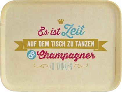 Tablett Champagner