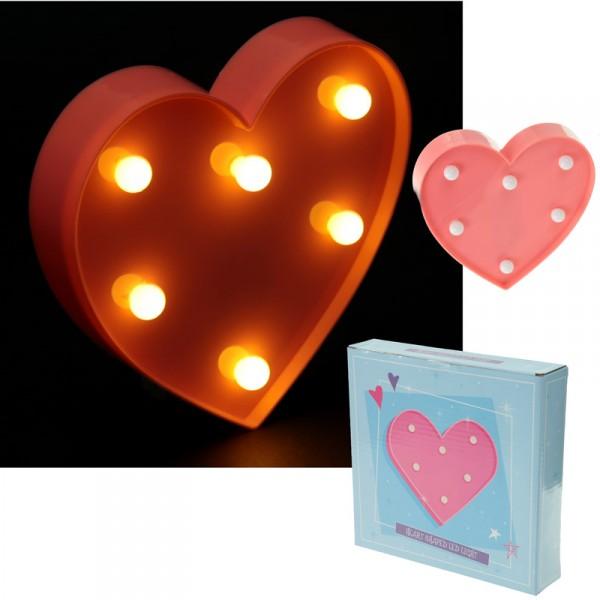 Herz mit LED Licht rosa
