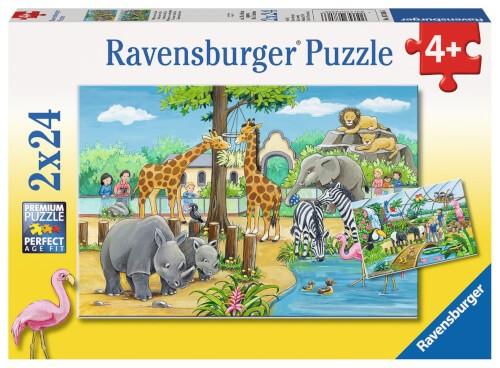 Ravensburger 07806 Kinderpuzzle Willkommen im Zoo 2 x 24 Teile